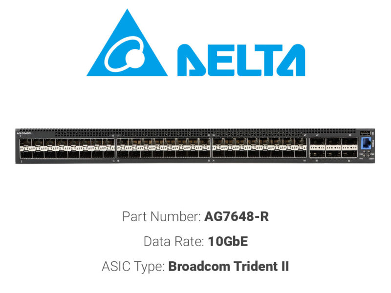 10GbE white box switch Delta Networks AG7648-R