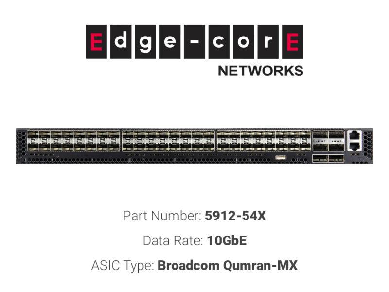 10GbE white box switch Edgecore Networks 5912-54X