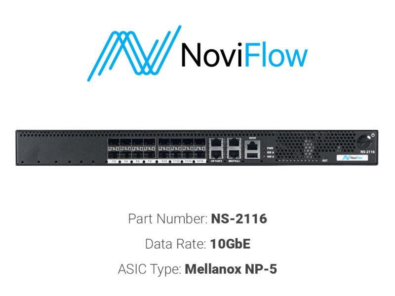 10GbE white box switch NoviFlow NS-2116