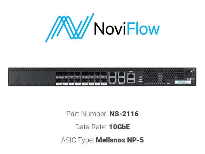 10GbE white box switch NoviFlow NS-2116