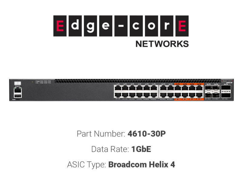1GbE white box switch Edgecore Networks 4610-30P