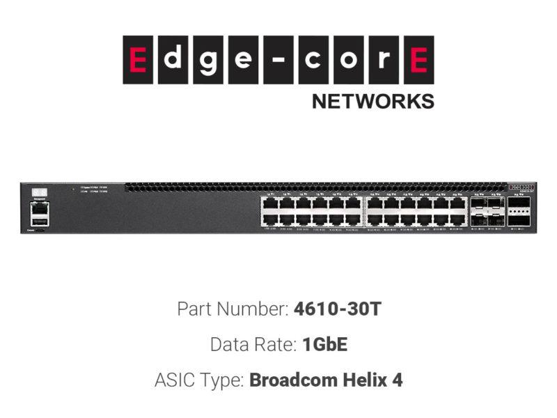 1GbE white box switch Edgecore Networks 4610-30T