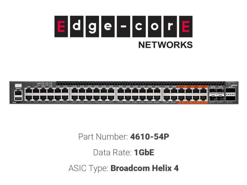 1GbE white box switch Edgecore Networks 4610-54P