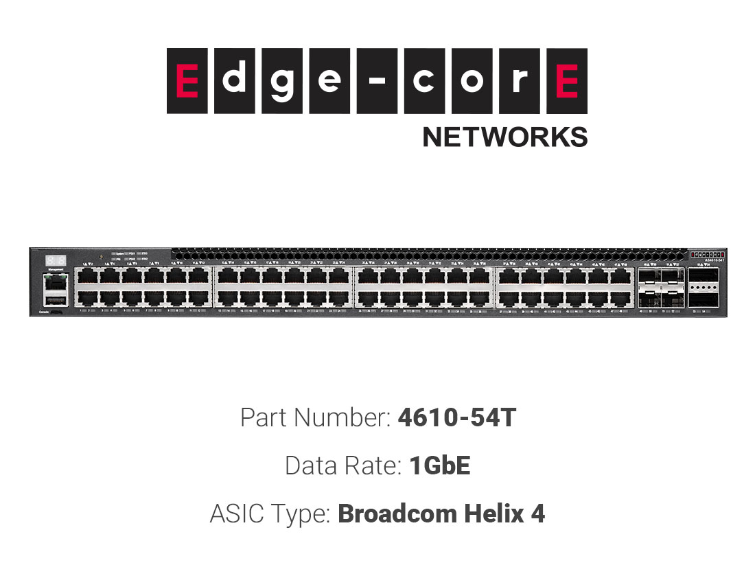 1GbE white box switch Edgecore Networks 4610-54T