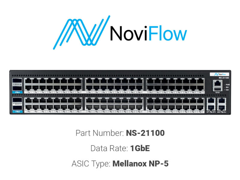 1GbE white box switch NoviFlow NS 21100