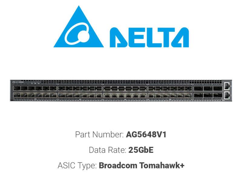 25GbE white box switch Delta Networks AG5648V1
