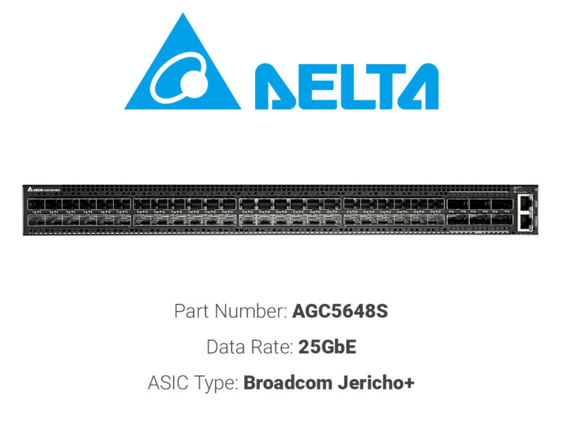 25GbE white box switch Delta Networks AGC5648S