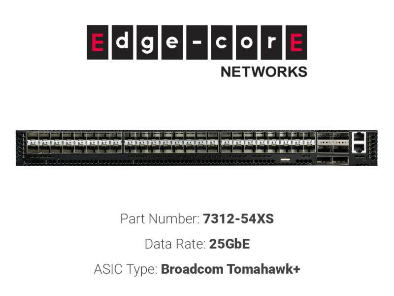 25GbE white box switch Edgecore Networks 7312-54XS